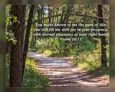 Photograph - Psalm 16 11 by Dawn Currie