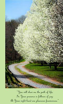 Psalm 16 11 Art Print