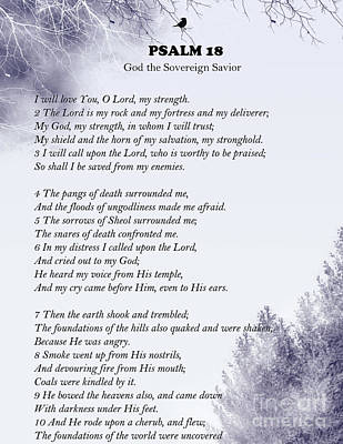 Digital Art - Psalm 18- Pg 1 by Trilby Cole