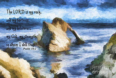 Photograph - Psalm 18v2 by Diane Macdonald
