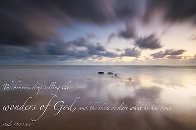 Photograph - Psalm 19 1 by Will Gudgeon