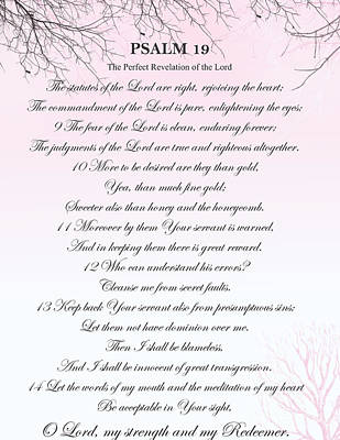 Digital Art - Psalm 19- Pg 2 by Trilby Cole