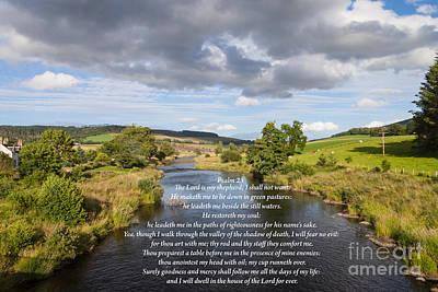 Photograph - Psalm 23 by Diane Macdonald