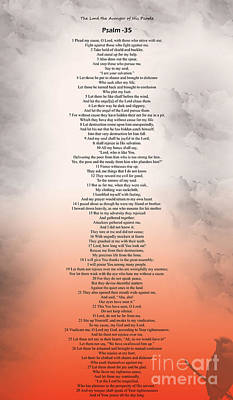 Psalm 35 Art Print