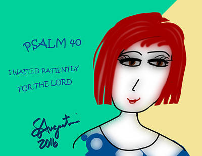 Psalm 40     2016 Print by Sharon Augustin
