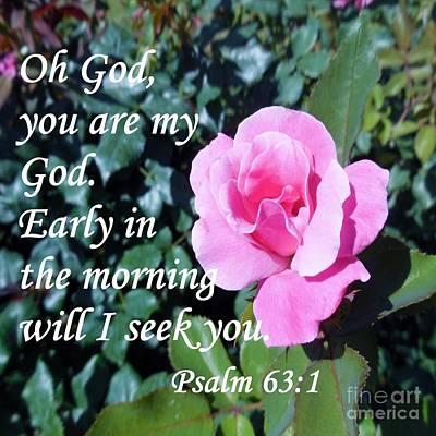 Psalm 63 Art Print