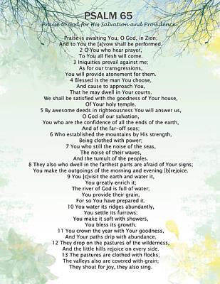 Digital Art - Psalm 65 by Trilby Cole
