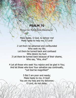 Digital Art - Psalm 70 by Trilby Cole