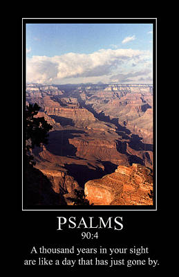 Digital Art - Psalm 90 And The Grand Canyon by John Haldane