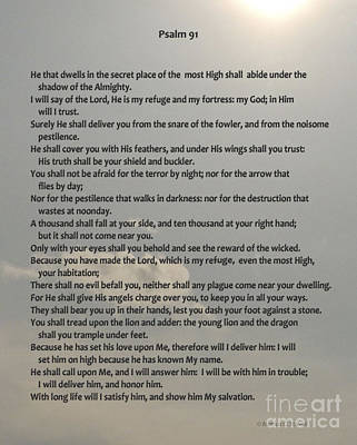 Photograph - Psalm 91 by Monica C Stovall