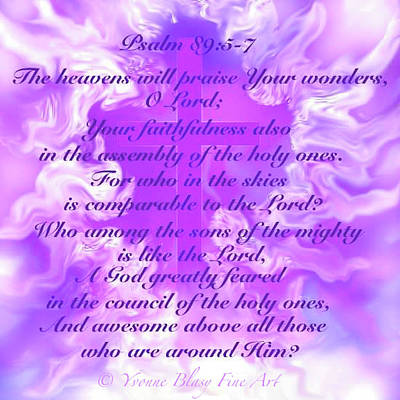 Digital Art - Psalm Eighty Nine Selected Verses by Yvonne Blasy