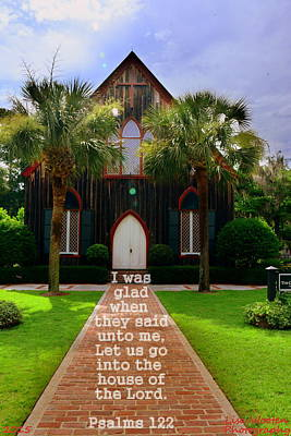 Photograph - Psalms 122 Church Of The Cross by Lisa Wooten