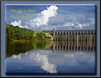 Clarks Hill Lake Photograph - Psalms 74 16 by Michael Whitaker