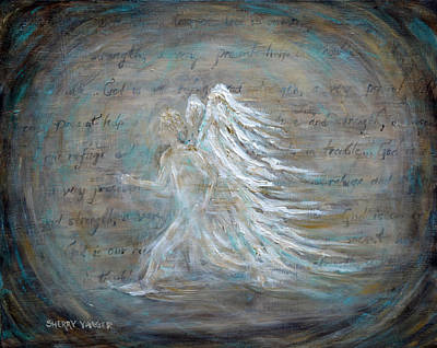 Psalms Painting - The Running Angel by Sherry Montgomery
