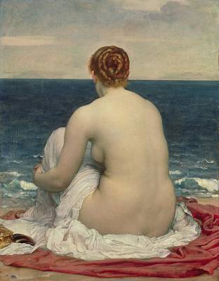 Seashore Painting - Psamanthe by Frederic Leighton