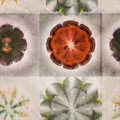 Fineness Painting - Pseudosiphuncal Fineness Flower  Id 16165-061123-78650 by S Lurk