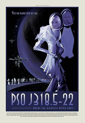 Photograph - Pso J318.5-22 - Where The Nightlife Never Ends - Vintage Nasa Po by Mark Kiver