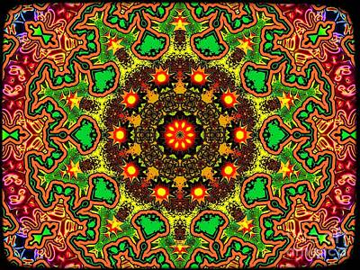 Trippy Digital Art - Psych by Robert Orinski