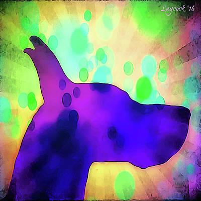 Great Dane Digital Art - psychadelic Great Dane Kona by Jodi Laycock