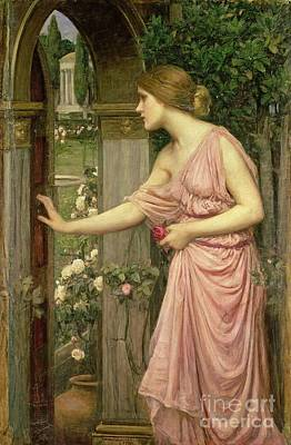Rose Garden Painting - Psyche Entering Cupid's Garden by John William Waterhouse