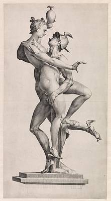 Drawing - Psyche Is Carried Up To Olympus By Mercury by R Muirhead Art