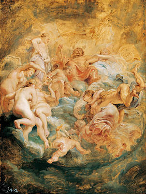 Olympus Painting - Psyche Taken Up Into Olympus by Peter Paul Rubens
