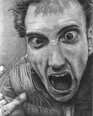 Portraits Drawing - Psyched by Eric Harrison