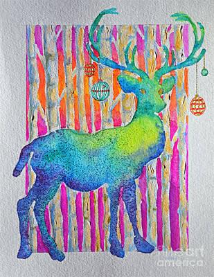 Painting - Psychedeer by Li Newton