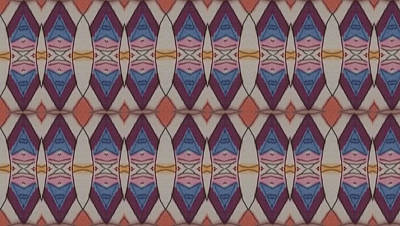 Gift Of Love Drawing - Psychedelic 2 5 17 by Modern Metro Patterns and Textiles