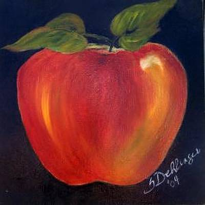 Painting - Psychedelic Apple by Susan Dehlinger
