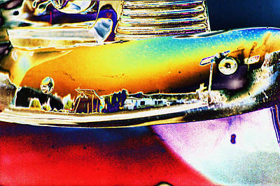 Psychedelic Chevy Bumper Art Print by Richard Henne