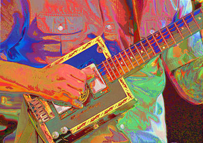 Photograph - Psychedelic Cigar Box Guitar by C H Apperson