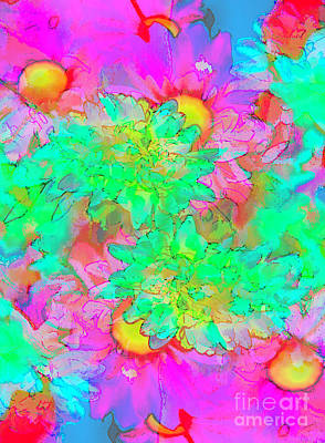 Mind Bending Photograph - Psychedelic Citrus Explosion by Chellie Bock