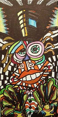 Painting - Psychedelic Clown by Gayland Morris
