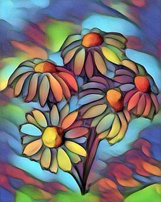 Digital Art - Psychedelic Daisies by Megan Walsh
