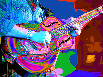 Photograph - Psychedelic Dobro by C H Apperson