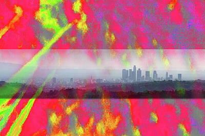 psychedelic energy of Los Angeles Art Print by Viktor Savchenko