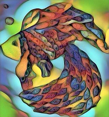 Digital Art - Psychedelic Fish 3 by Megan Walsh