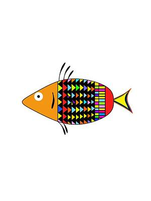 Digital Art - Psychedelic Fish by Bill Owen