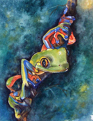 Frog Painting - Psychedelic Frog by Gina Hall