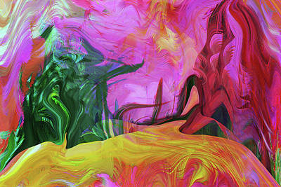 Digital Art - Psychedelic Fun House by Linda Sannuti