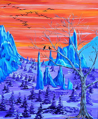 Psychedelic Garden Of The Gods Original by Mike Nahorniak