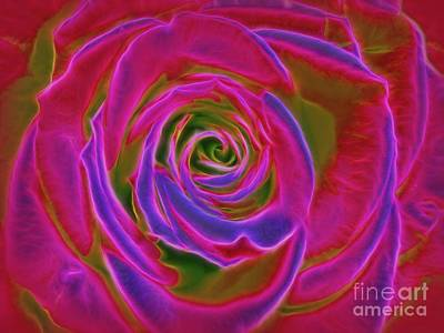 Photograph - Psychedelic Green Rose by Renee Trenholm