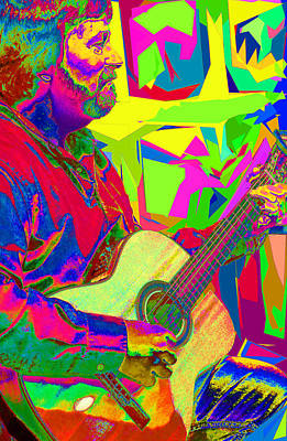 Photograph - Psychedelic Guitarist  by C H Apperson