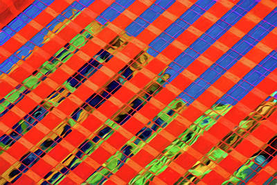 Psychedelic High Rise Reflections Art Print by Mitch Spence