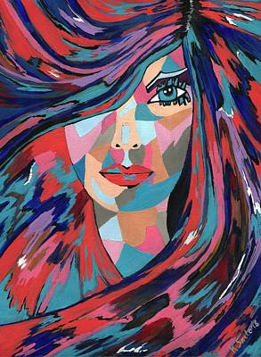 Painting - Psychedelic Jane - Contemporary Woman Art by Kathleen Sartoris