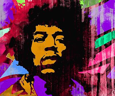 James Marshall Jimi Hendrix Painting - Psychedelic Jimi 3a by Otis Porritt