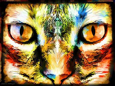 Psychedelic Kitty Cat Art Print