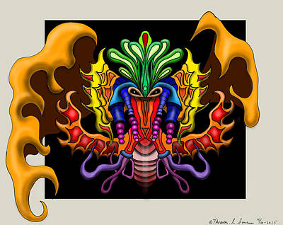 Painting - Psychedelic Louse by ThomasE Jensen