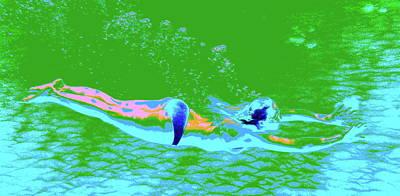 Digital Art - Psychedelic Makua Mermaid by Erika Swartzkopf